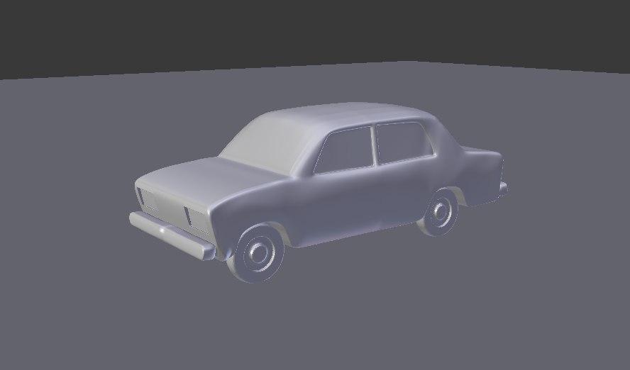 VAZ 2106 car for games 3D