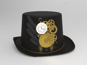 3D steampunk hat