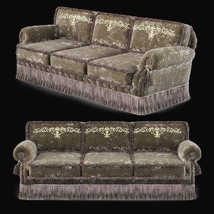 3D zanaboni sofa model