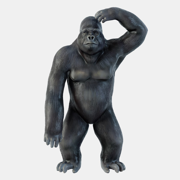 3D model 2 figurine gorilla