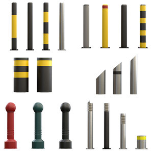 set urban bollards model