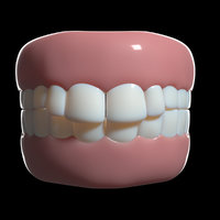 cartoon teeth 3D model