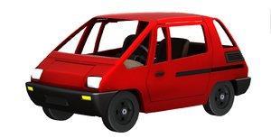 3D concept car fiat