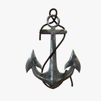 anchor metall 3D