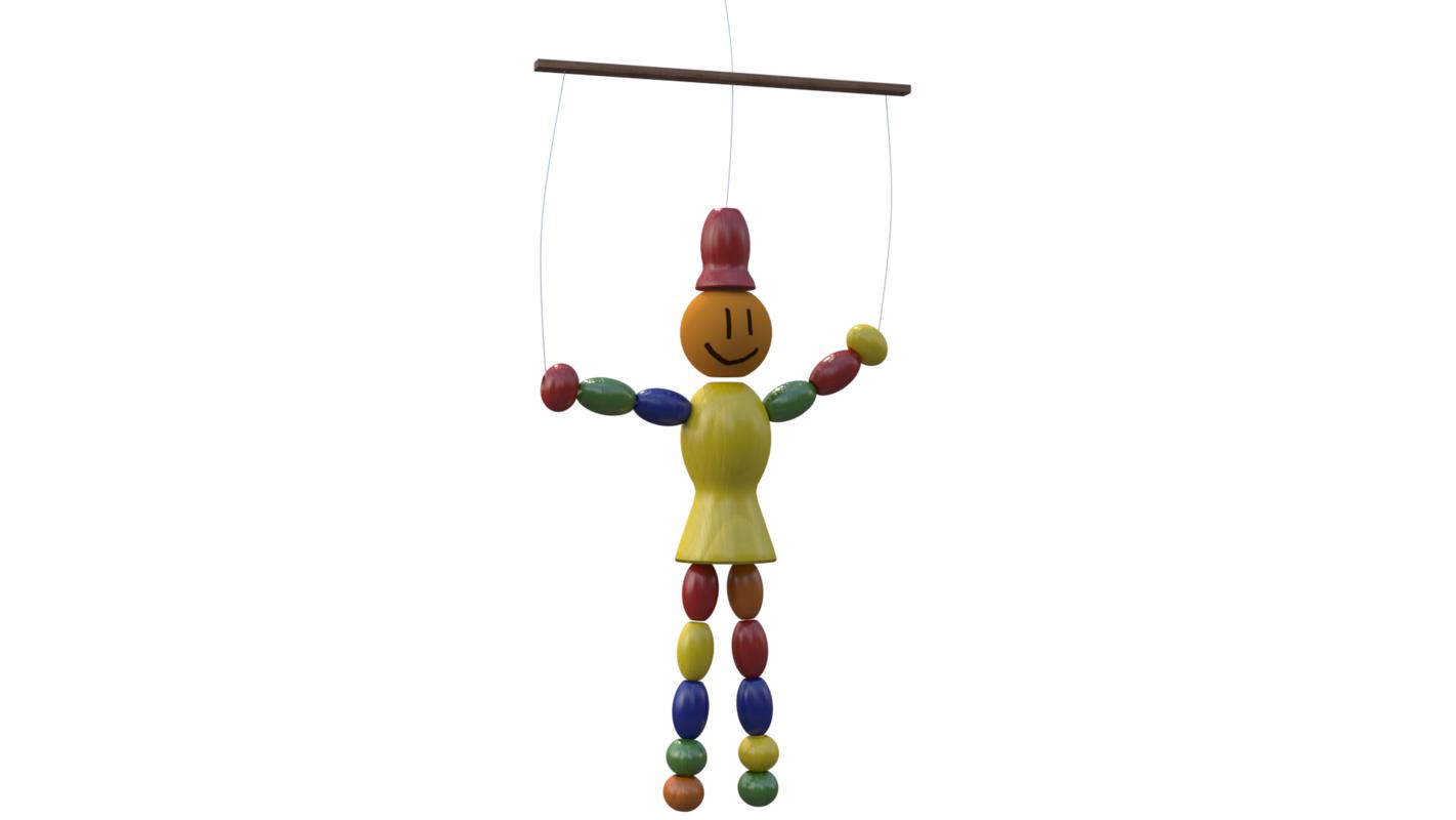 puppet 3D model