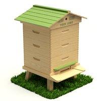 bee hive 3D model