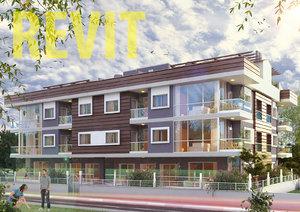 apartment building revit 3D model