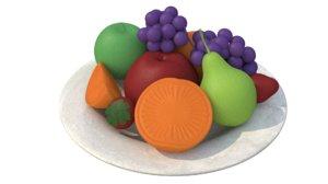 fruit soap 3D model