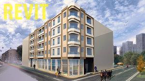 revit project apartment building 3D model