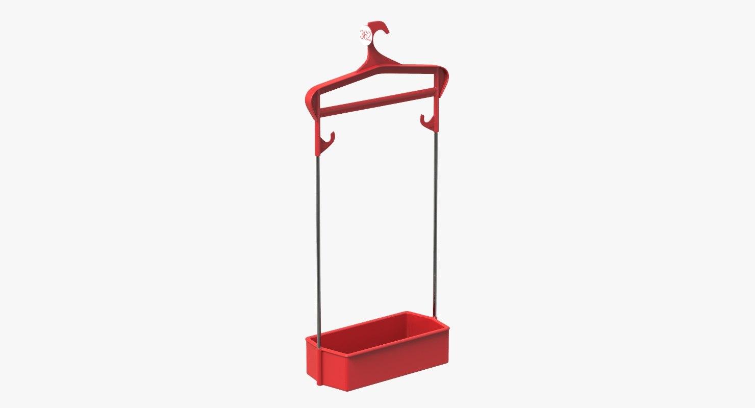3D cloakroom hanger model