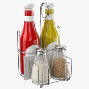 condiments holder 3D