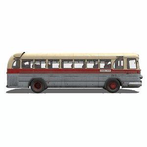 3D model ussr bus zis-127