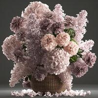 general decor bouquet flowers 3D model