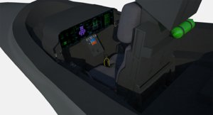 f-35 lightning ii cockpit model