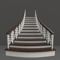 3D staircase stairs architecture