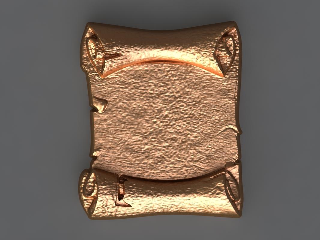 3D model scroll mold soap