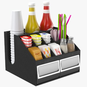 3D condiments holder
