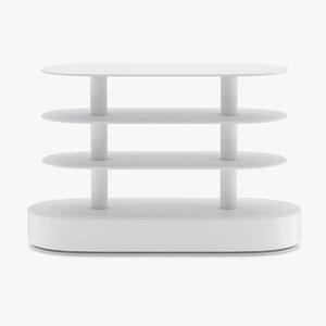 shelves rack supermarket model