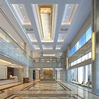 hotel lobby scene 3D