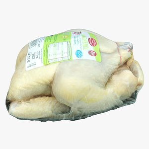 3D packed chicken model