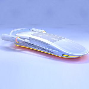 3D futuristic transport vehicle model
