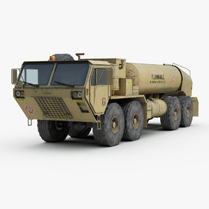 oshkosh hemtt m978 fuel 3D model