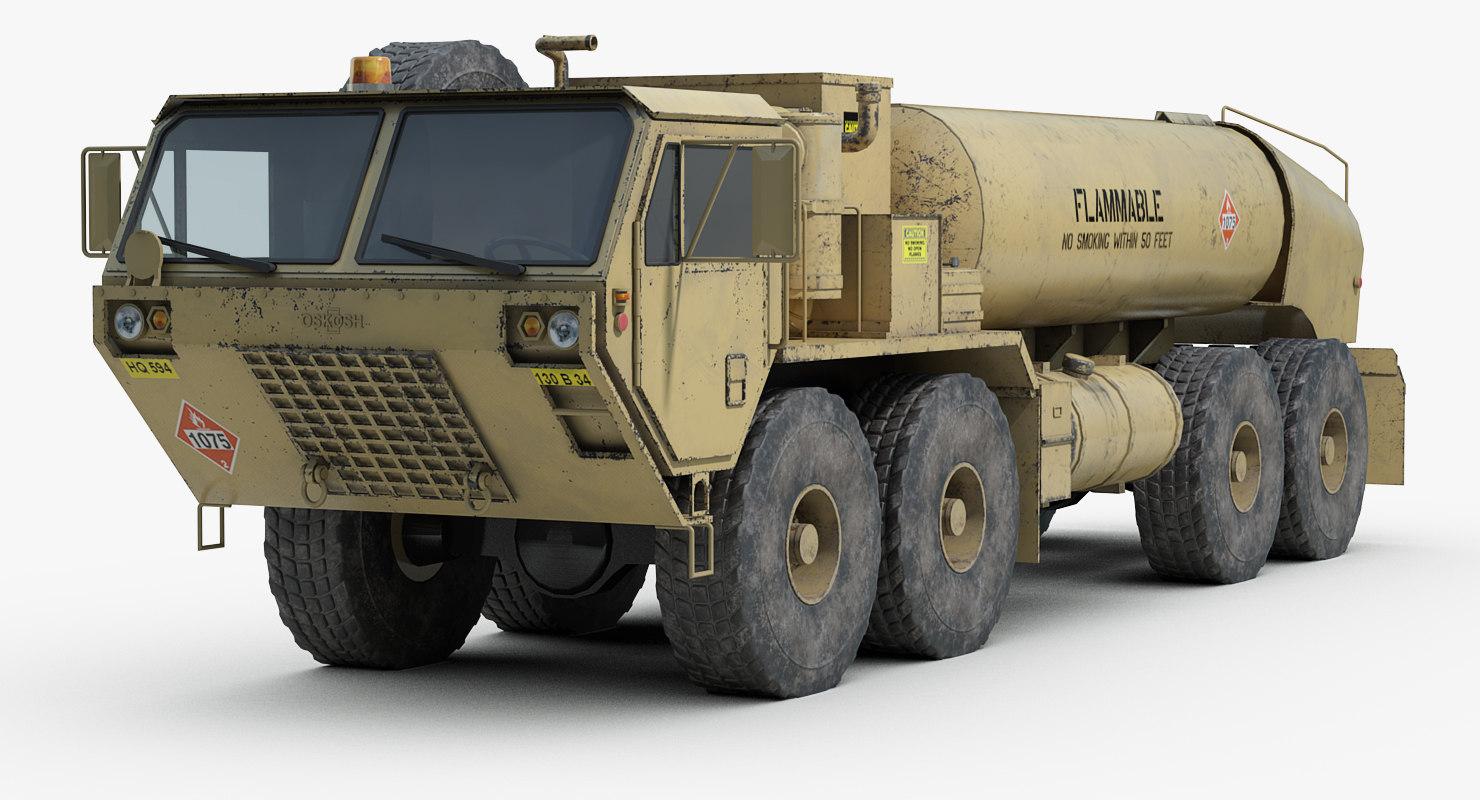 oshkosh hemtt m978 fuel 3D model