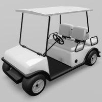 golf cart car 3D model