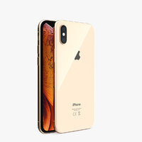 3D iphone xs gold phones