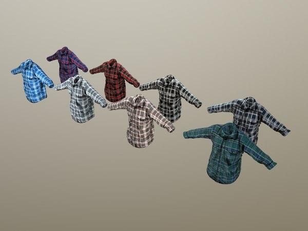 long-sleeve t-shirt pack 3D model