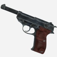 3D walther p38 model