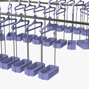 3D cloakroom hanger line