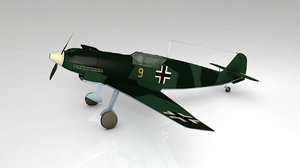 bf-109 military aircraft 3D model