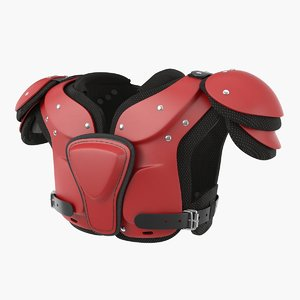 football shoulder pads 3D model