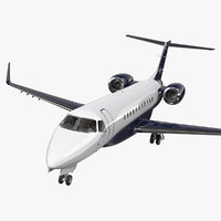 private jet embraer legacy 3D model