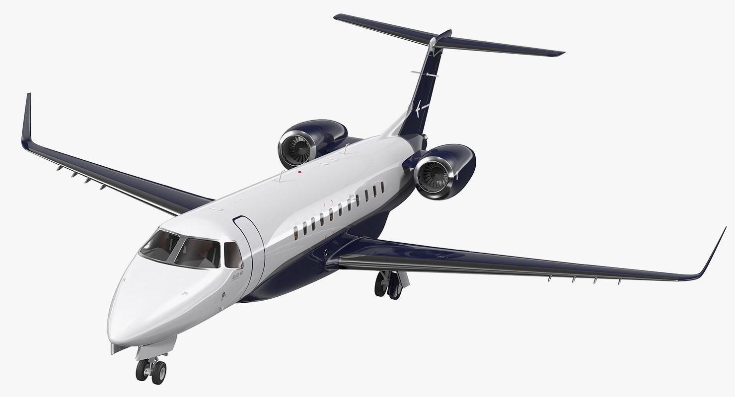 private jet embraer legacy 3D model