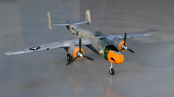 b-25 mitchell military aircraft 3D model