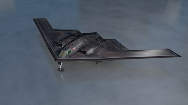 3D model b2 military aircraft bomber