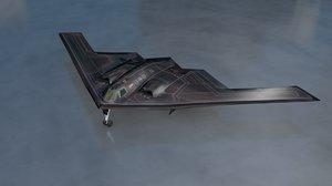 3D model b2 military aircraft bomber