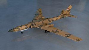 3D model badger militay airplane