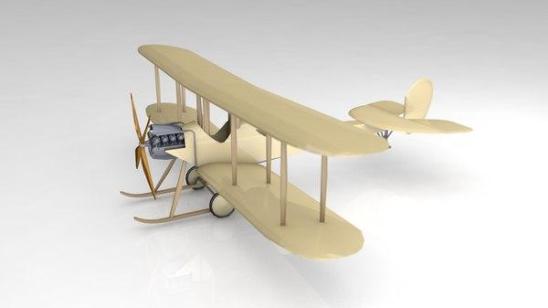 3D wood propeller airplane