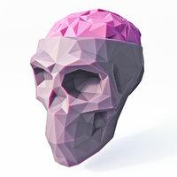 skull brain 3D model