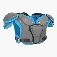 Football Shoulder Pads Generic 3D Model