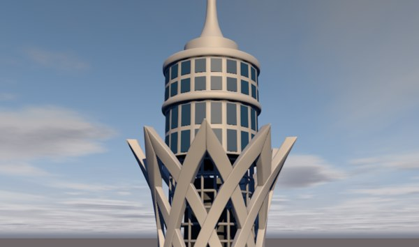 cairo tower 3D model