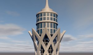 cairo tower 3D model