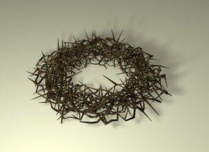 3D model jesus crown thorns
