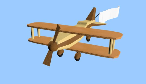 origami plane 3D model