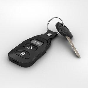 3D car key