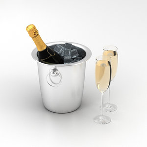 3D champagne
