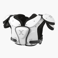 Football Shoulder Pads Xenith Flyte Youth White 3D Model